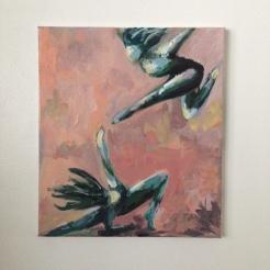 "crossroads. 14""x16"" acrylic on canvas"
