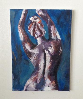 """unwinding. 10""""x14"""" acrylic on canvas"""